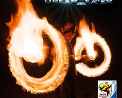 1c. Dreamweaver Fire Dancing with Quad Staff - FIFA Soccer World Cup 2010 Semi Final Promo